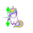 Unicorn vertical resize.ani Preview