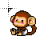 little cheeky monkey rolling animation.ani Preview