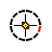 Animated crosshair circle - diagonal resize 1.ani Preview