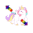 unicorn diag resize right.ani Preview