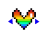 rainbow heart horizontal resize.ani Preview