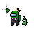 (Unavailable) Among Us With Crown, Suit, & Slime Pet.ani Preview