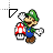 PaperLuigi_WorkingInBackgound.ani Preview