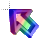 Right 3D Rainbow Transparent Center Animation Perpendicular.ani Preview