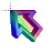 Right 3D Rainbow Transparent Center Animation Parallel.ani Preview