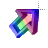 Left 3D Rainbow Transparent Center Animation Perpendicular.ani Preview