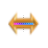 Flowing Rainbow Gold Horzontal Resize.ani Preview