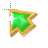 Right Emerald in Gold arrow 1 background.ani