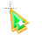 Right Emerald in Gold arrow 2 background.ani Preview