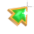 Left Emerald in Gold arrow 1 background.ani Preview
