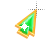 Left Emerald in Gold arrow 2 background.ani Preview