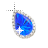 Right Blue Sapphire in diamonds Background.ani Preview