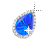 Left Blue Sapphire in diamonds Background.ani Preview