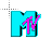 80s Flashing Colorful MTV Logo Busy4.ani Preview
