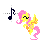 Fluttershy -Text Select-.ani Preview