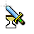 Diamond Sword W/ Animated Hourglass.ani Preview
