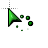 Green beveled cursor working in background.ani Preview