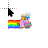 Animated Adventure time with nyon cat.ani Preview