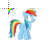 rainbow dash cursor.ani Preview