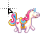 Cute Unicorn with saddle Cursor.ani Preview