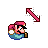 Super Mario Diagonal Resize 1.ani Preview