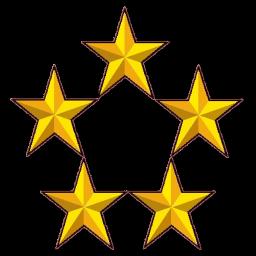 gold 5 star icon