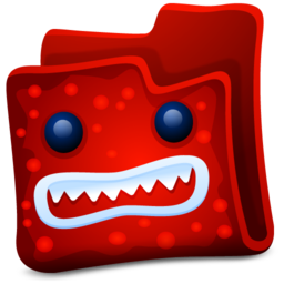 Red Monster Folder Icon