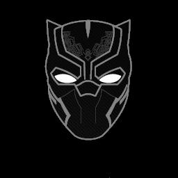 Black Computer Icon Png Black Panther Mask Ico...