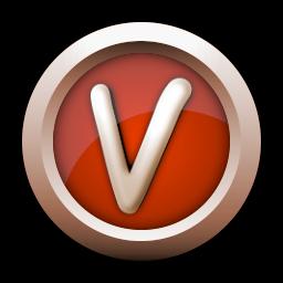 Metallic V Icon