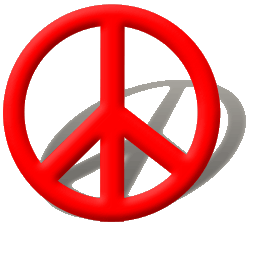 Red Peace Sign Icon