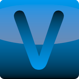 Blue App Style V Icon