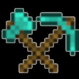 Diamond Axe Pickaxe Icon
