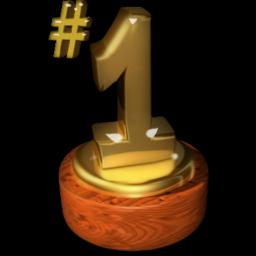no1 trophy icon