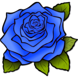 Rose Blue Icon