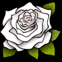 Rose White Icon