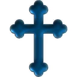 Holy Cross Blue Icon