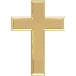 Rugged Cross Gold Icon