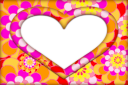 Flowery heart template