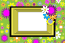 Spring flowers template