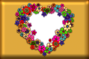 Floral Heart template