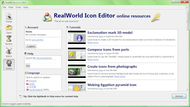 RealWorld Icon Editor 2010.1's Online Page