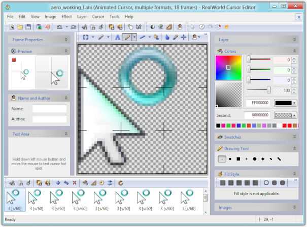 RealWorld Cursor Editor on Window 8 Consumer Preview