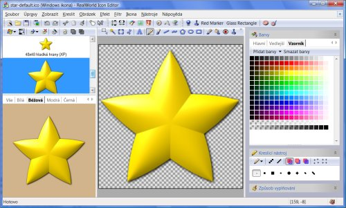 Color swatches in RealWorld Icon Editor