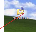 Icon with transparent pixels on desktop