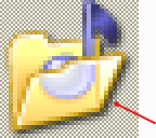 Icon with transparent pixels in editor