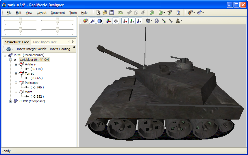 Realworld screenshot create parametric 3d models in 3d model editor