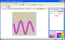 Drawing curves in raster image editor