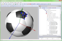 Building a 3D model for a soccer ball icon