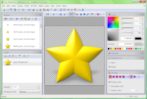 Adding a projected shadow to a star icon