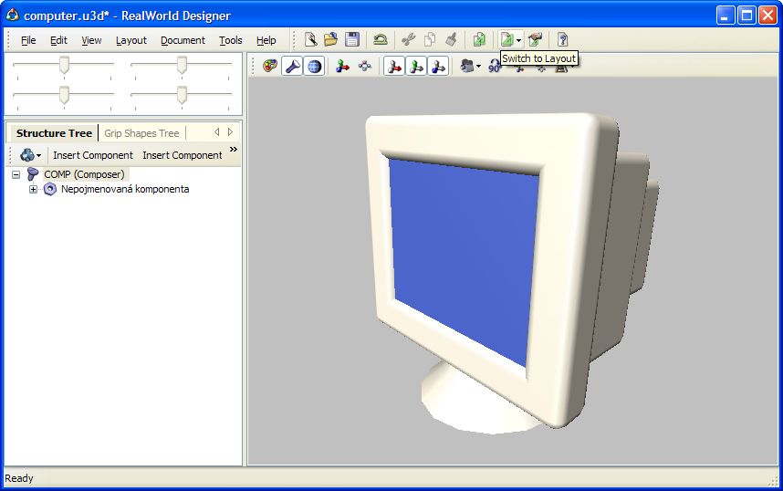 Realworld Screenshot A Display 3d Model Created In